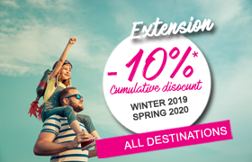 Read more : Last chance: -10% all destinations, for winter 2019 - spring 2020